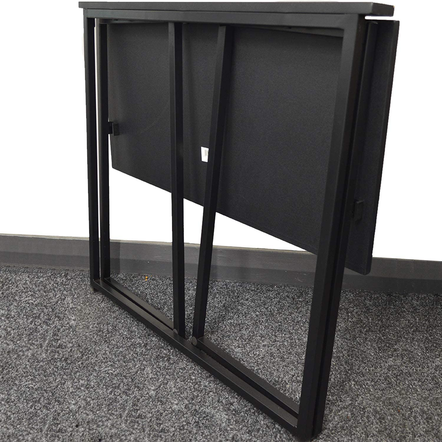 FB FunkyBuys Compact Folding Computer Desk Home Office Laptop Desktop Table Simple Small Home PC Laptop Table Study Desk Black