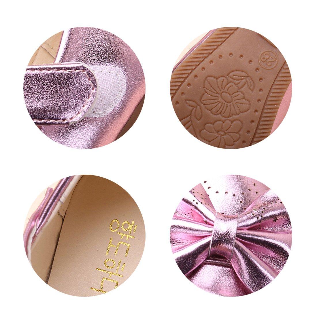 YIBLBOX Girls Dress up Wedding Princess Shoes Sparkling Mary Jane Bowknot Shoes Toddler//Little Kid