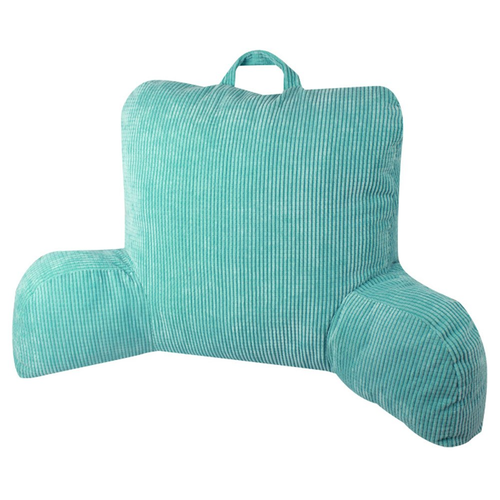Comfortable and Practical Armrest Cushion Reading Pillows Lumbar Pillow Pregnant Women Back Cushion (Aqua blue)