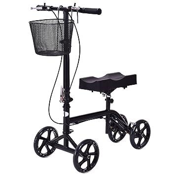 Amazon Com Goplus Heavy Duty Knee Walker Steerable Knee Scooter