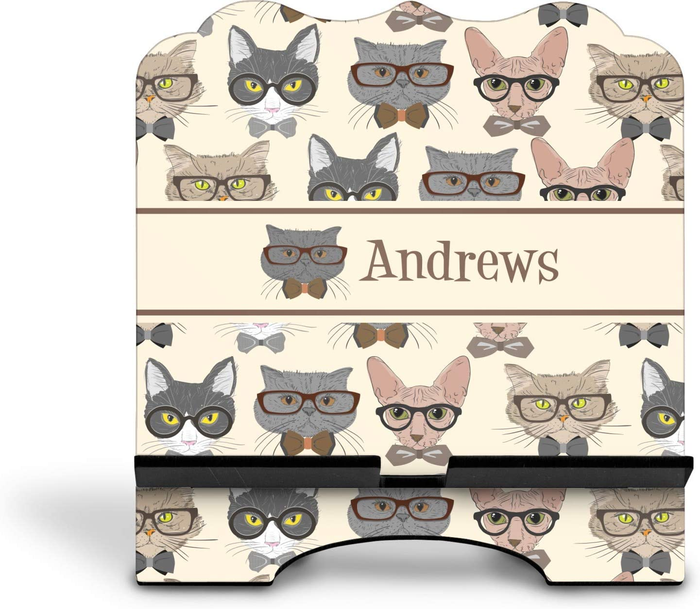 Personalized YouCustomizeIt Hipster Cats Stylized Tablet Stand