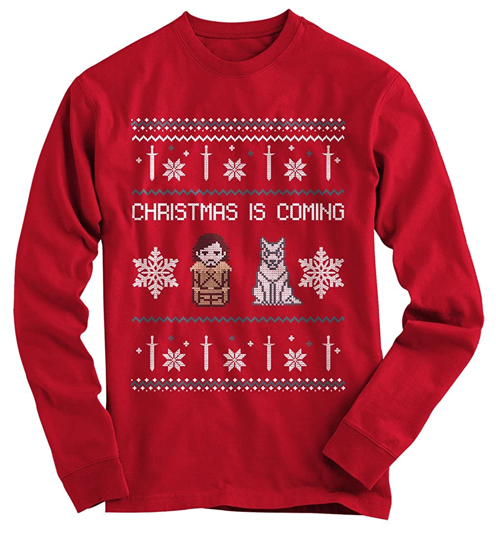 Gnarly Tees Men's Christmas Is Coming Ugly Christmas Sweater