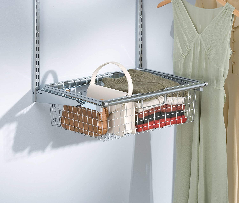 Rubbermaid FG3J0503WHT Configurations Sliding Basket White Renewed