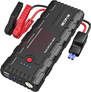 NEXPOW Car Battery Starter, 1500A Peak 21800mAh 12V Auto Car Jump Starter Power Pack with USB Quick Charge 3.0 (Up to 6.5L Gas or 4L Diesel Engine)