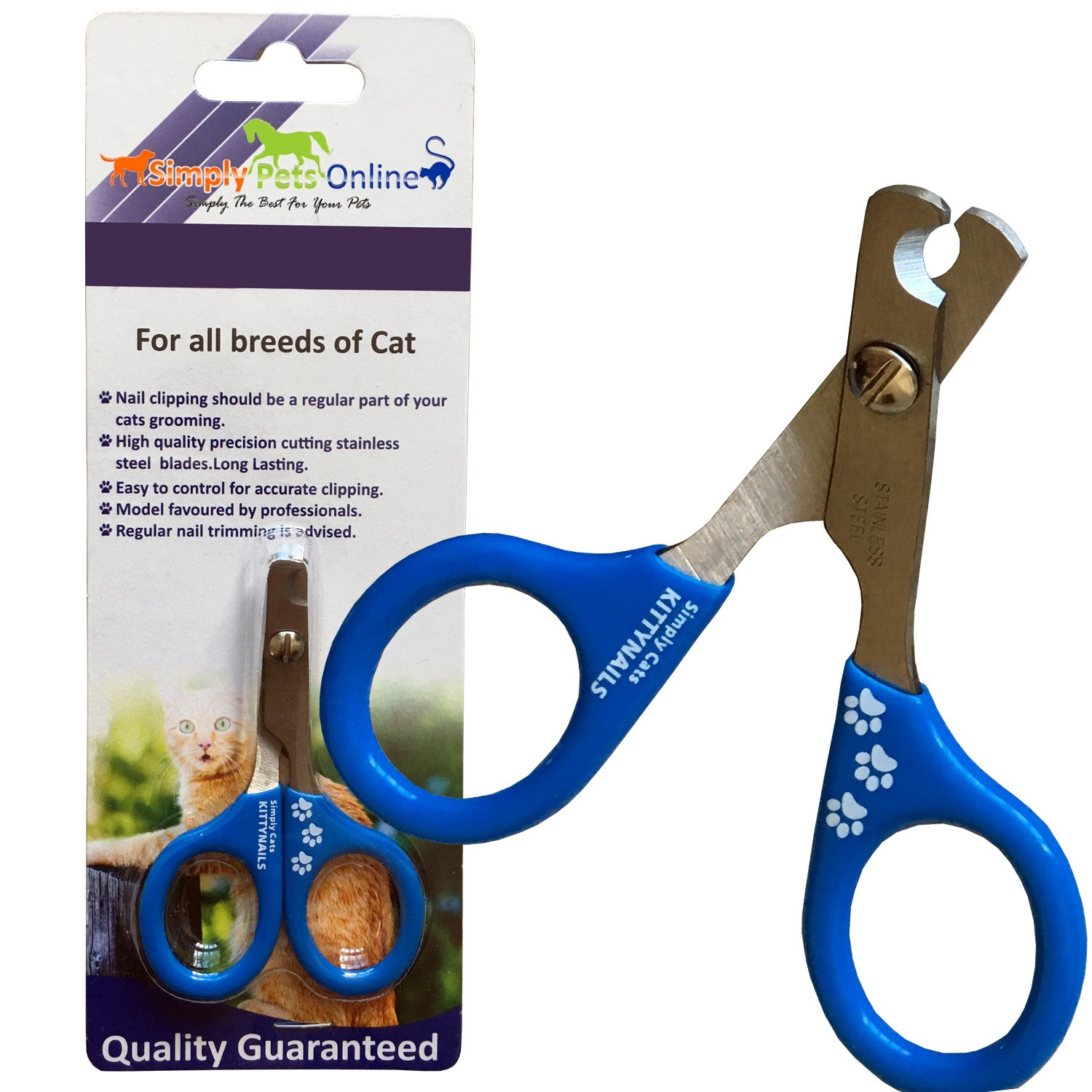 Amazon.com: Cat Nail Clippers by KittyNails - Professional Cat ...