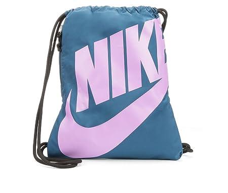 b02af0eb67ea4 Nike Beuteltasche Heritage Kordelzug Gymsack Rucksack 400 Denier Sport  Segeltuch (blau Force Blast) Purple