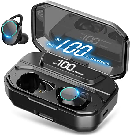 Amazon Com Xmythorig Ultimate True Wireless Earbuds Bluetooth 5 0 Headphones Ipx7 Waterproof Earphones For Sports 110h Playtime W 3300mah Charging Case 3d Stereo Audio Touch Control In Ear Headset W Mic Home Audio Theater