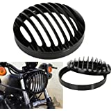 "Headlight Grille, CICMOD 5 3/4"" Phares Grilles en Aluminium pour Harley Sportster XL 883 1200 04-14"