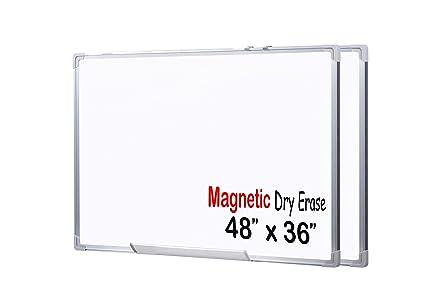 Amazon.com : EGI 48x36-Inch Magnetic Dry Erase White Board with ...