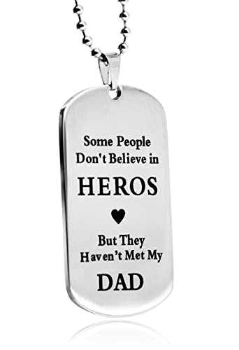 Amazon.com: littone a Dad Dogtag Mens Collar con Colgante ...