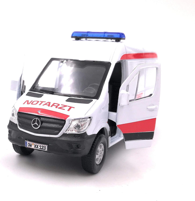Onwomania Modellauto Mit Wunschkennzeichen Sprinter Notarzt Weiss Auto Maßstab 1 34 39 Lizensiert Auto