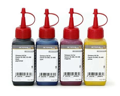 Tinta para impresora, para Canon GI-590, GI-490 CMYK, Canon Pixma ...