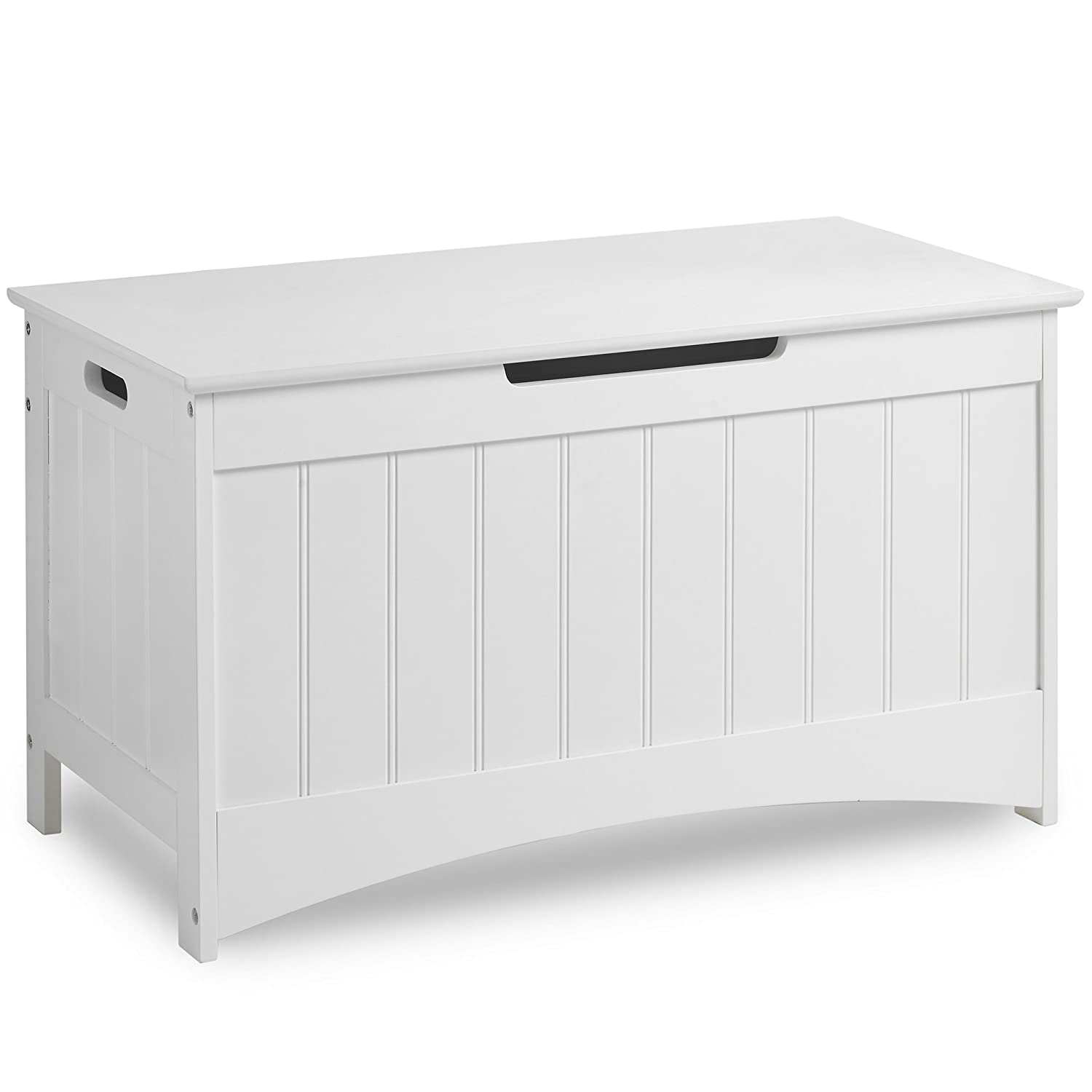 VonHaus Colonial Storage Box - Classic White Storage Chest with easy-open  operation - Bedroom Furniture
