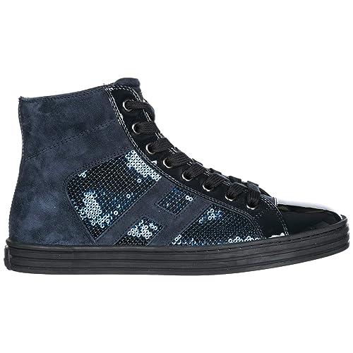 Hogan Rebel Scarpe Sneakers Alte Donna in Pelle Nuove r141 Blu EU 40  HXW14108014J2KU810  Amazon.it  Scarpe e borse 305b9695045