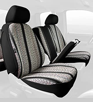 Fia TR48-32 Black Custom Fit Front Seat Cover Bucket Seats Black Saddle Blanket,
