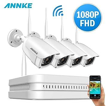 ANNKE Kit Cámaras de Seguridad wifi 8CH 1080P HD Inalámbrica ...