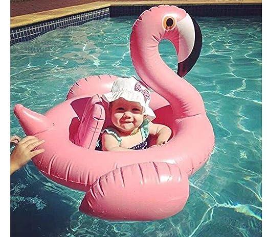 WayOuter Flotador para Bebé Flamenco Anillo de Natación Lindo Rosa Inflable Asiento de la Piscina Barco Niños Playa Juguetes: Amazon.es: Juguetes y juegos