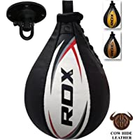 RDX Speed Ball Boxing Genuine Leather MMA Muay Thai Training Punching Dodge Striking Bag Hanging Swivel Workout Speedball Kicking