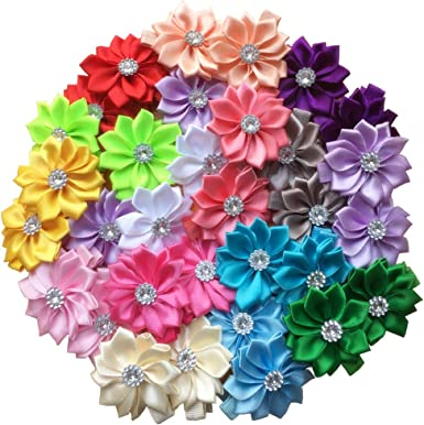 flower Hair Clips  3 pcs Girls hair Clips  flower Barrettes  Kids Barrettes  Gift for her  Hair  Accessories Barrettes for her