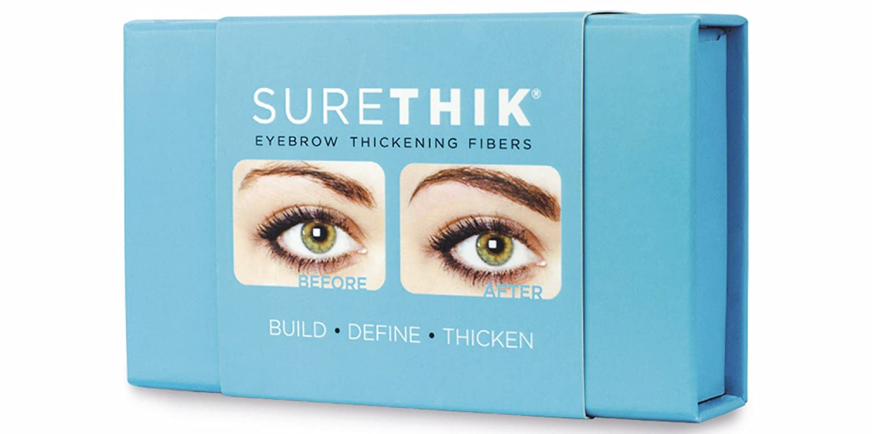 ff30eff6aaa Amazon.com : SureThik Eyebrow Thickening Fibers, Long Lasting Brow Kit, Medium  Brown : Beauty