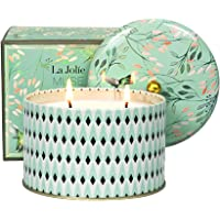 LA JOLIE MUSE Large Scented Candle, 2 Wicks White Tea Aromatherapy Candle for Home, 14.1 Oz Long Lasting Candles…