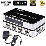 Tendak HDMI2.0分配器 スプリッター HDCP 2.2 4K@60HZ 18Gbps 3D 1入力4出力 YUV 4:4:4 EDID Dolby Digital PS4 Pro Xbox One Roku HDTV