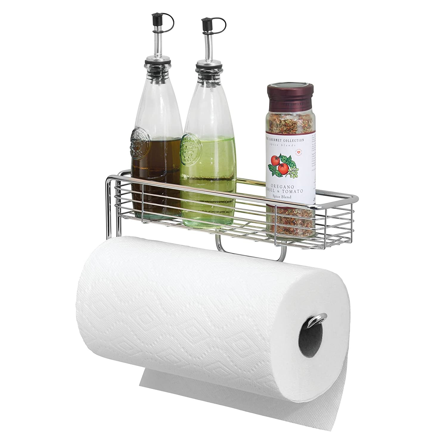 Amazoncom Mdesign Wall Mount Metal Paper Towel Holder With