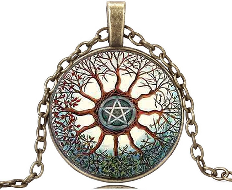 Teacher/'s Book Gift Cabochon Tibetan Bronze Glass Chain Vintage Pendant Necklace