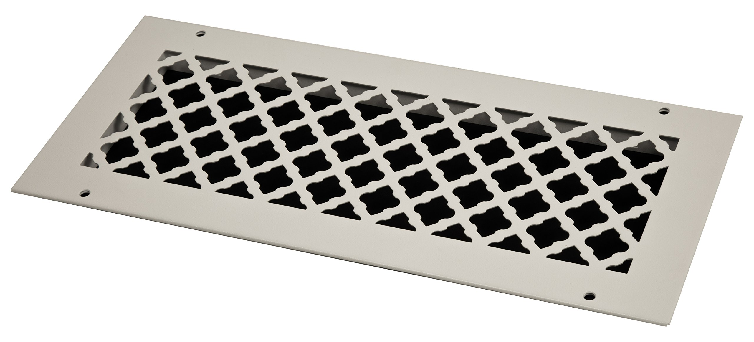 SteelCrest BTU16X6RWHH Bronze Series Designer Wall/Ceiling Vent Cover, with Mounting Screws, White