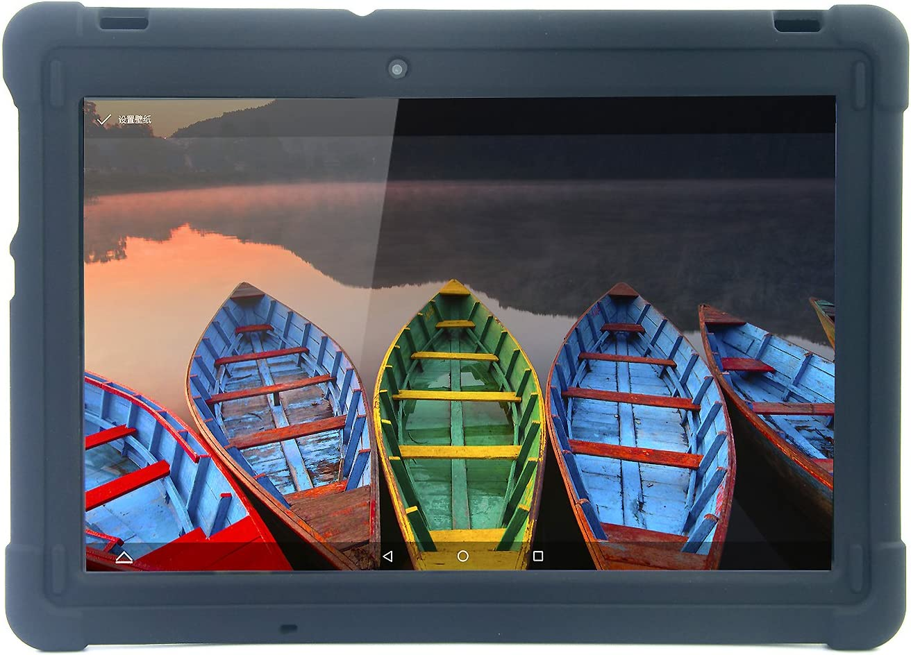 MINGSHORE Lenovo Tab2 A10-70/70F/70LC 10.1'' Tablet Case,Also Fit Tab3 10 Business, Silicone Rugged Case for Lenovo TB3-X70/70F/70L [NOT for Tab-X103F Or TB2-X30F/M] Tablet Bumper Case (Black)