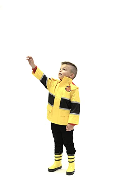 27f8459c7668 drench rainwear boy s fireman rain jacket  Amazon.ca  Clothing ...