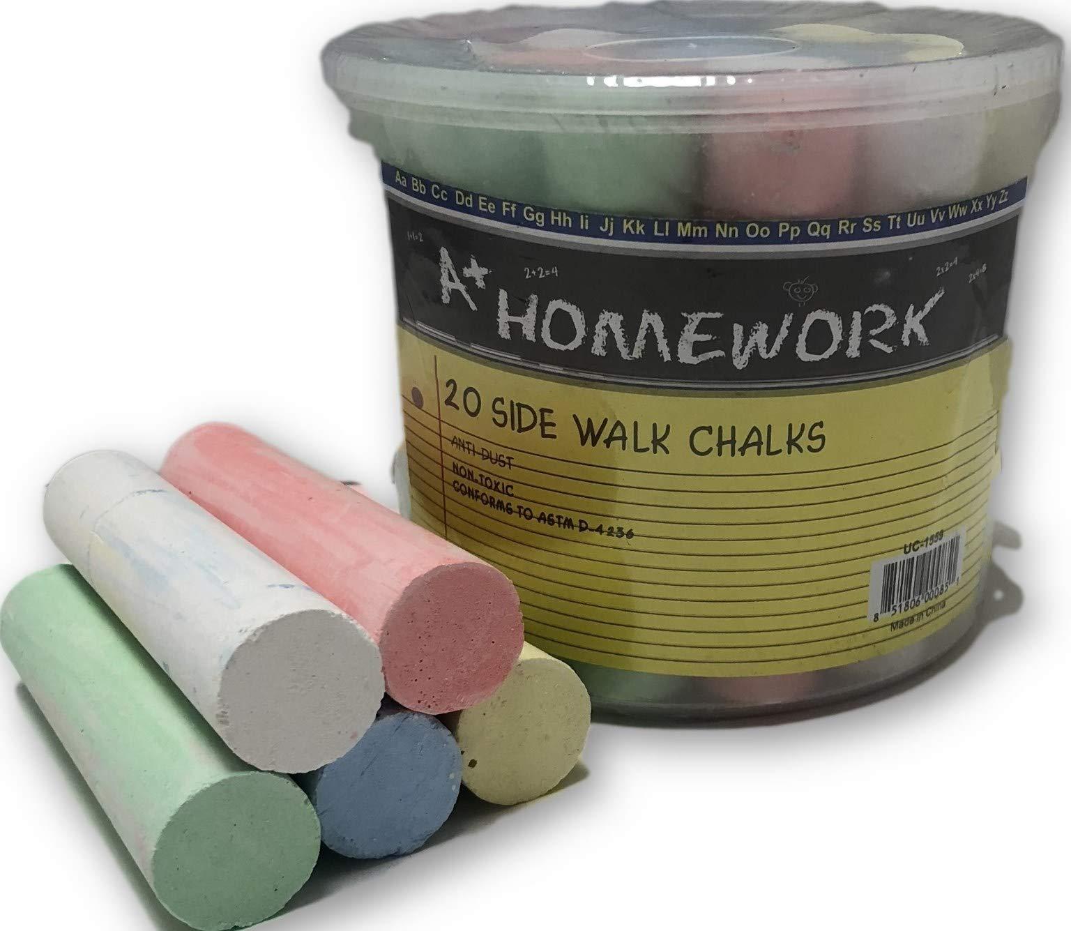DD Chalk - Jumbo Sidewalk - 20 Count(Pack of 24)