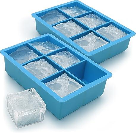 Oferta amazon: igadgitz Home Cubitera de Hielo 6 XL Cubos Cubitera Silicona de Calidad Alimentaria - 2 Piezas