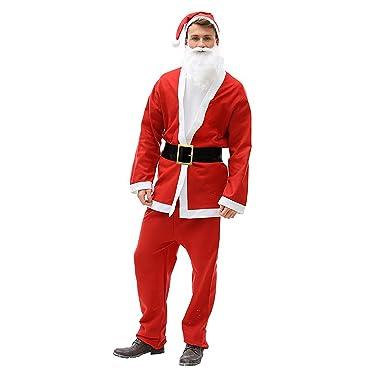 Christmas Shop - Traje Papa noel unisex hombre mujer (Talla Única ...
