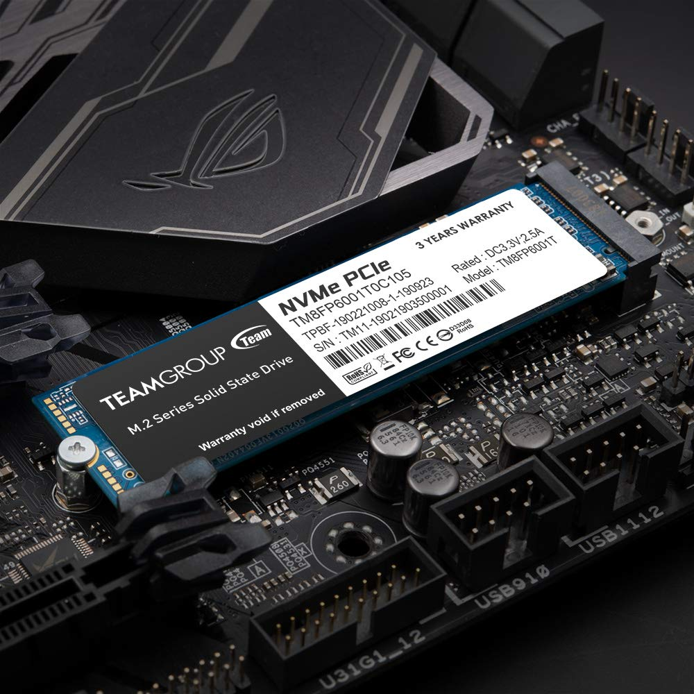 TEAMGROUP MP33 2TB NVMe PCIe Gen3x4 M.2 2280 Solid State Drive SSD TM8FP6002T0C101 (Read/Write Speed up to 1,800/1,500 MB/s)