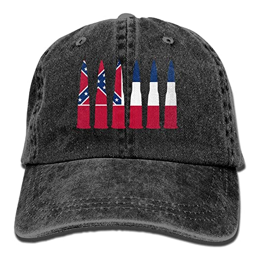 5ee84d33d24 ... inexpensive penn tnt unisex adult mississippi flag bullet usa washed  denim retro cowboy style baseball cap