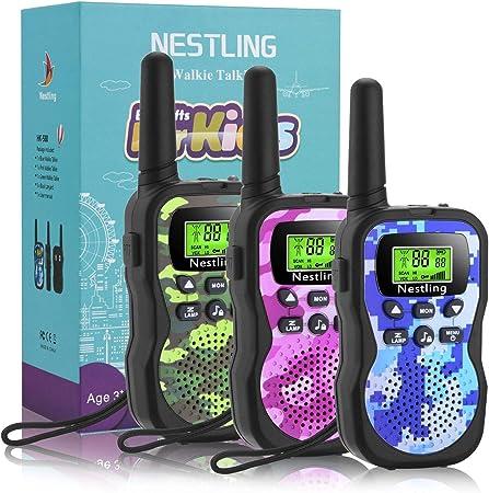 ☎ [Función CTCSS y VOX]: la versión mejorada de Nestling walkie talkies proporciona una voz más clar