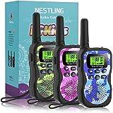 Nestling Walkie Talkie para niños, Camuflaje al Aire Libre, 8 Canales, Radio de 2 vías, Juguetes, Linterna LCD…