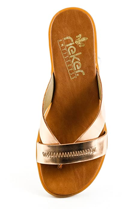 Rieker Damen Komfort Zehentrenner Bronze Kupfer Gr. 37  Amazon.de  Schuhe    Handtaschen f616be3d22
