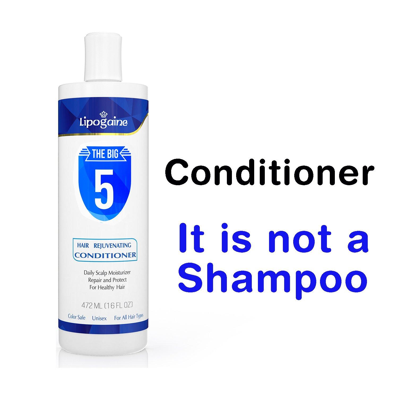 Lipogaine Hair Rejuvenating Conditioner With Argan Oil, Keratin, Aloe Vera, Vitamins