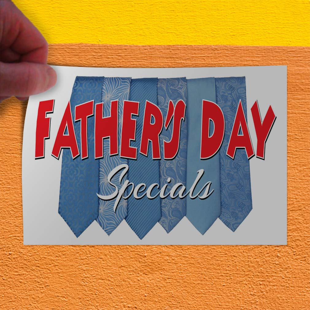 Decal Sticker Multiple Sizes Fathers Day Special Business Holidays and Occasions Father Outdoor Store Sign Blue Set of 2 54inx36in
