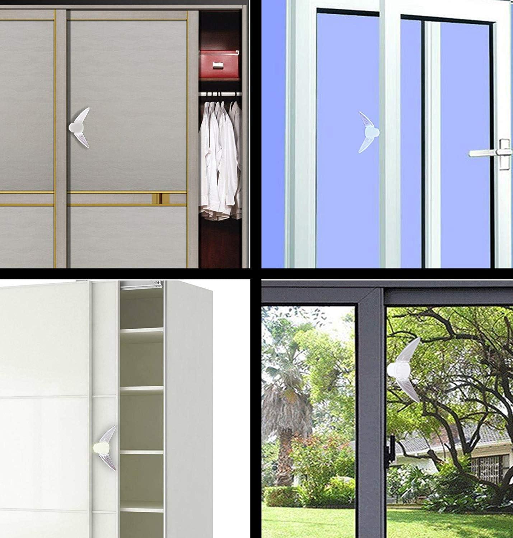 Puertas correderas con almohadilla adhesiva para los niños del bebé de seguridad para niños iZoeL ventana de parada de la cerradura del cajón del armario cerradura de puerta deslizante de 4 piezas: