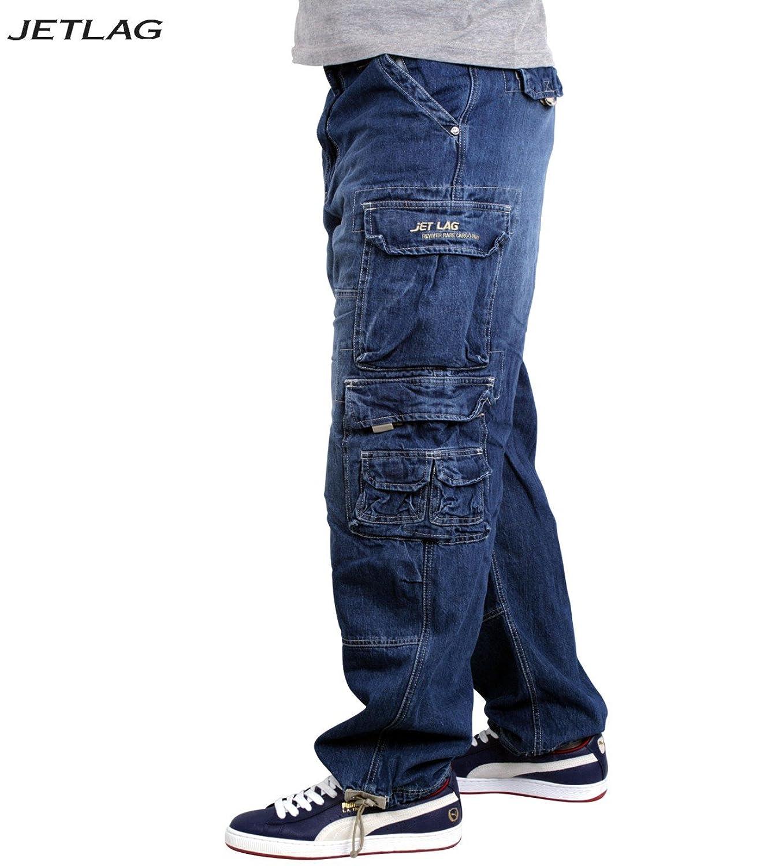 JET LAG Cargo-Hose Modell 007 Herren Jeans Pant - Denim Lite Navy inkl. F524  Camo Schlüsselband: Amazon.de: Bekleidung