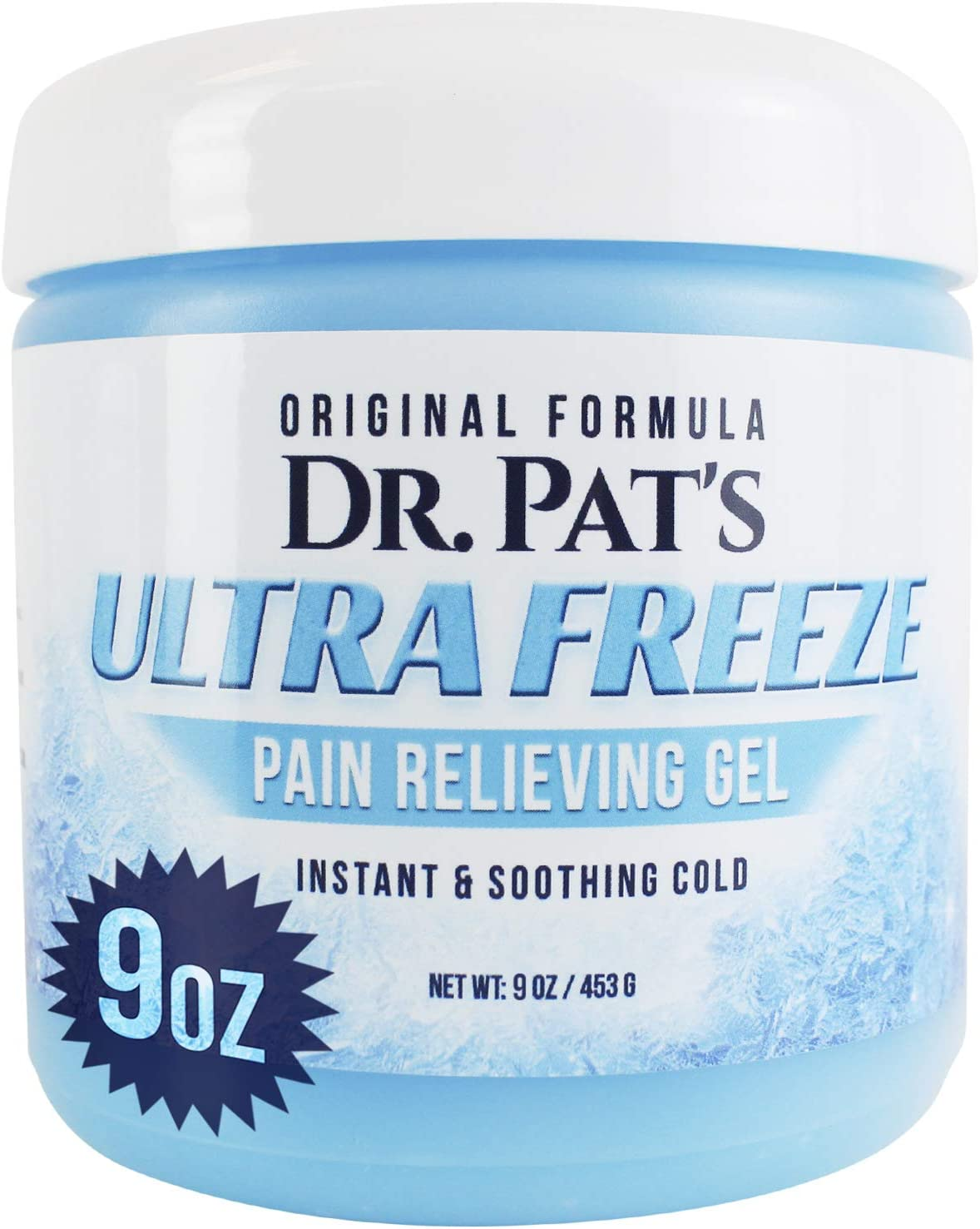 Dr Pat's Ultra Freeze Pain Relief Cream - Muscle RubGel for Arthritis, Neuropathy, Foot and Joint - Cooling Sports Massage for Back, Shoulder and Knee - Topical Analgesic Menthol for Neck and Body