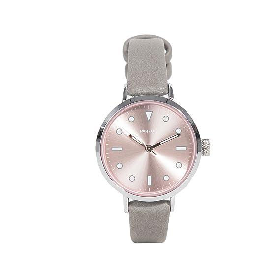 Parfois - Reloj Round - Mujeres - Tallas Única - Cinza Claro: Amazon.es: Relojes