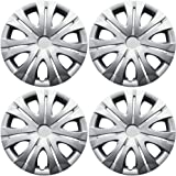 Hub-Caps for Select Toyota Corolla (Pack of 4) 16 Inch Silver Wheel Covers