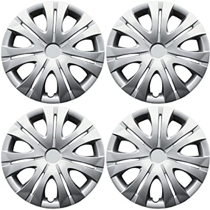 Amazon.com: OxGord Hub-caps for 10-13 Volkswagen Jetta (Pack of 4) Wheel Covers 16 inch Snap On Silver: Automotive