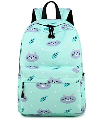 Abshoo Cute Lightweight Cat Backpacks Girls School Bags Kids Bookbags (Cat  Blue) ed88493cdf2b3