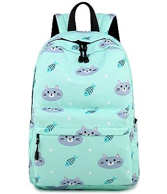 f0db80d1290f Abshoo Cute Lightweight Cat Backpacks Girls School Bags Kids Bookbags (Cat  Blue)