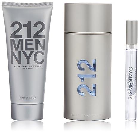 Carolina Herrera 212 Men Agua de Colonia + Aftershave + Colonia Mini - 1 Pack
